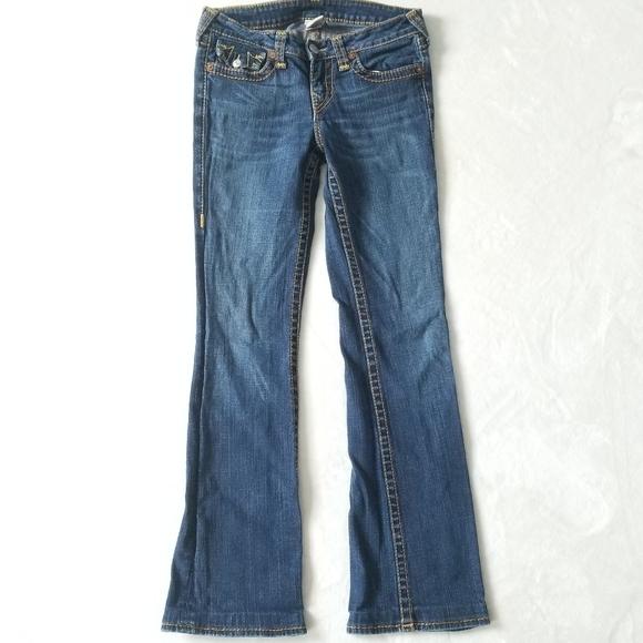 True Religion Becky Big T Straight Leg Size 29
